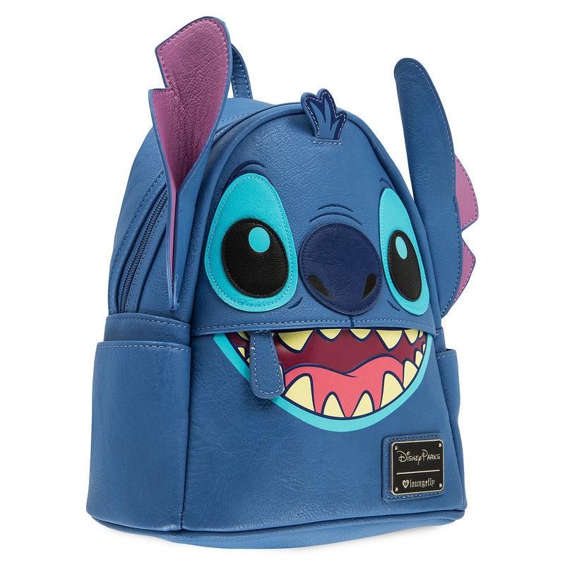 【取寄せ】 ディズニー Disney US公式商品 リロとスティッチ リュックサック バックパック バッグ 鞄 かばん ラウンジフライ ミニ [並行輸入品] Stitch Faux Leather Mini Backpack by Loungefly グッズ ストア プレゼント ギフト 誕生日 人気 クリスマス 誕生日 プレゼント