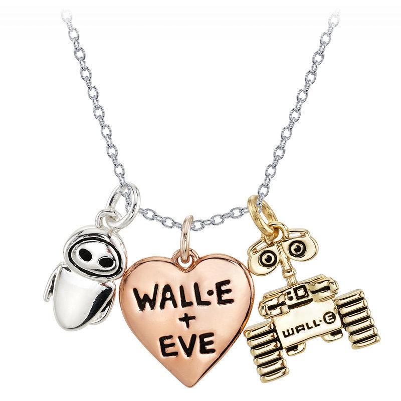 【取寄せ】 ディズニー Disney US公式商品 ウォーリー WALL-E イブ EVE Wall-E ネックレス ジュエリー アクセサリー [並行輸入品] and Heart Necklace グッズ ストア プレゼント ギフト 誕生日 人気 クリスマス 誕生日 プレゼント ギフト