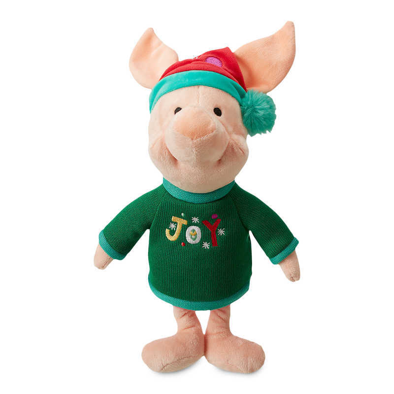 【あす楽】 ディズニー Disney US公式商品 ピグレット くまのプーさん 中サイズ ぬいぐるみ 人形 おもちゃ [並行輸入品] Piglet Holiday Plush - Medium グッズ ストア プレゼント ギフト 誕生日 人気 クリスマス 誕生日 プレゼント ギフト