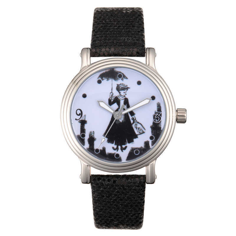 【取寄せ】 ディズニー Disney US公式商品 メリーポピンズ Mary Poppins 腕時計 時計 レディース 大人 女性 [並行輸入品] Watch for Women - Black グッズ ストア プレゼント ギフト 誕生日 人気 クリスマス 誕生日 プレゼント ギフト
