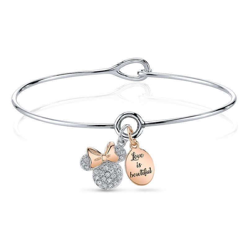 【取寄せ】 ディズニー Disney US公式商品 ミニーマウス ミニー ブレスレット [並行輸入品] Minnie Mouse Two-Tone Bracelet グッズ ストア プレゼント ギフト 誕生日 人気 クリスマス 誕生日 プレゼント ギフト