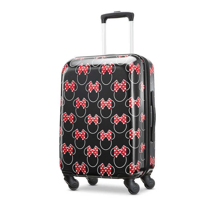 【取寄せ】 ディズニー Disney US公式商品 ミニーマウス ミニー アメリカンツーリスター スーツケースブランド キャリーバッグ 鞄 カバン スーツケース 旅行 バッグ 小サイズ アメリカン キャリーケース かばん リボン ラゲージ ころころ [並行輸入品] Minnie Mouse Bows Rol