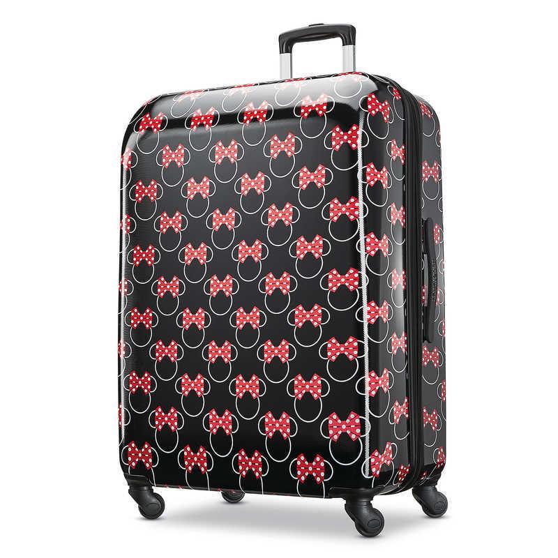 【取寄せ】 ディズニー Disney US公式商品 ミニーマウス ミニー アメリカンツーリスター スーツケースブランド キャリーバッグ 鞄 カバン スーツケース 旅行 バッグ 大サイズ アメリカン キャリーケース かばん リボン ラゲージ ころころ [並行輸入品] Minnie Mouse Bows Rol