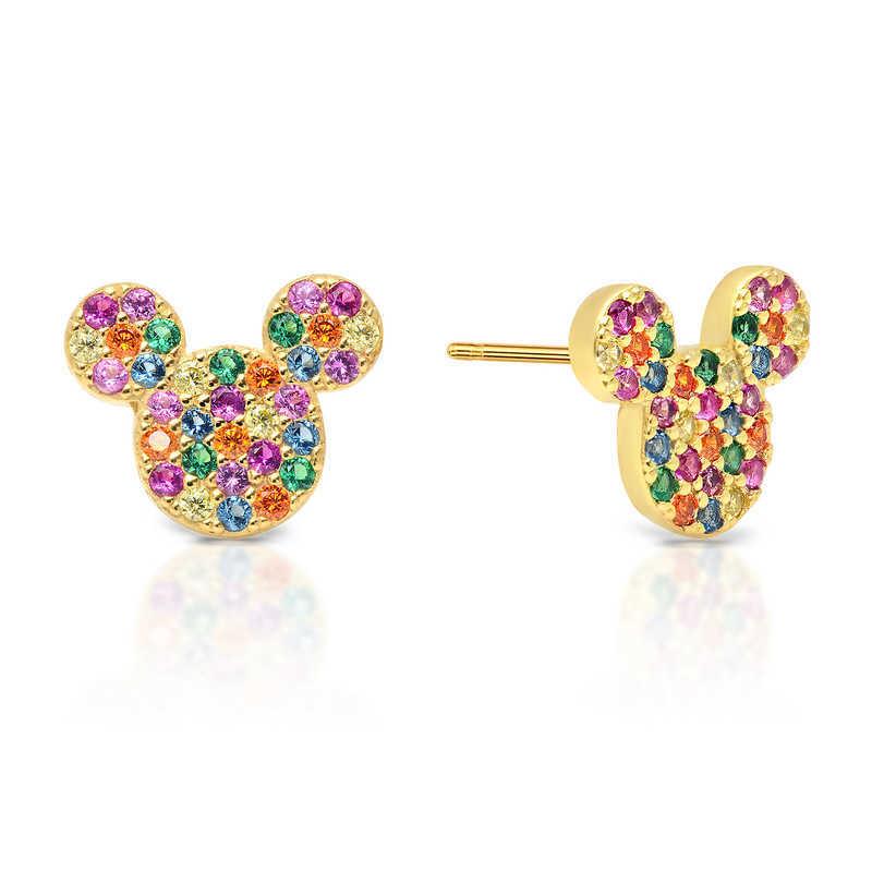 【取寄せ】 ディズニー Disney US公式商品 ミッキーマウス ミッキー ピアス ジュエリー アクセサリー リボン クリスル CRISLU [並行輸入品] Mickey Mouse Rainbow Icon Earrings by グッズ ストア プレゼント ギフト 誕生日 人気 クリスマス 誕生日 プレゼント ギフト