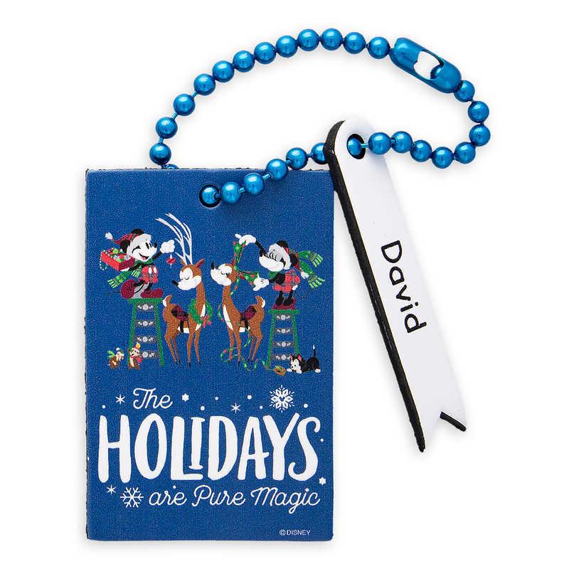 Disney Disney US formula product ミッキーマウスミッキーミニーマウスミニーホリデイピュアマジックキャリーバッグ bag  bag suitcase trip bag Santa tag [parallel import goods] Santa Mickey and