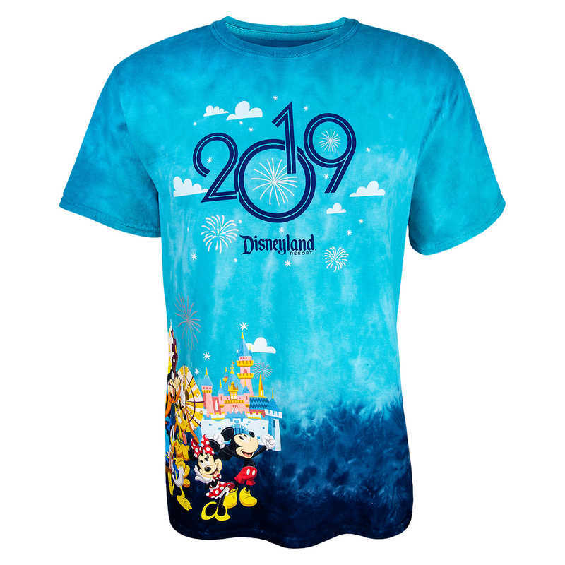 Mickey And The Gang Commemorate Your 2019 Visit To Disneyland Resort On This Tie Dye Souvenir Tee Colorful Design Shares All Fun Fantasy Of