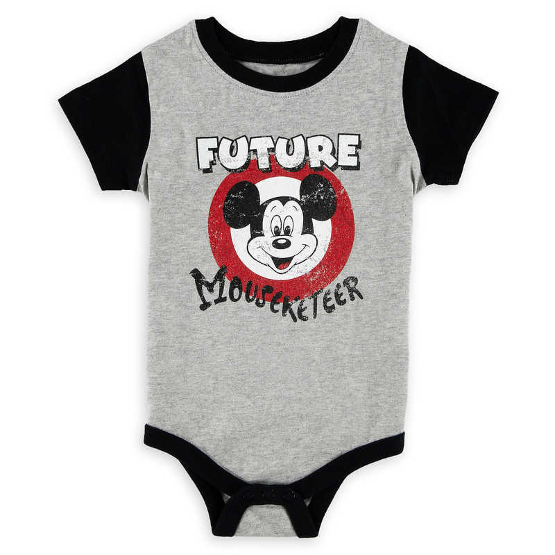 0e5d43e44 Your future Mouseketeer is as welcome as can be in this soft cotton  bodysuit featuring The Mickey Mouse Club logo and contrast trims. See you  real soon!