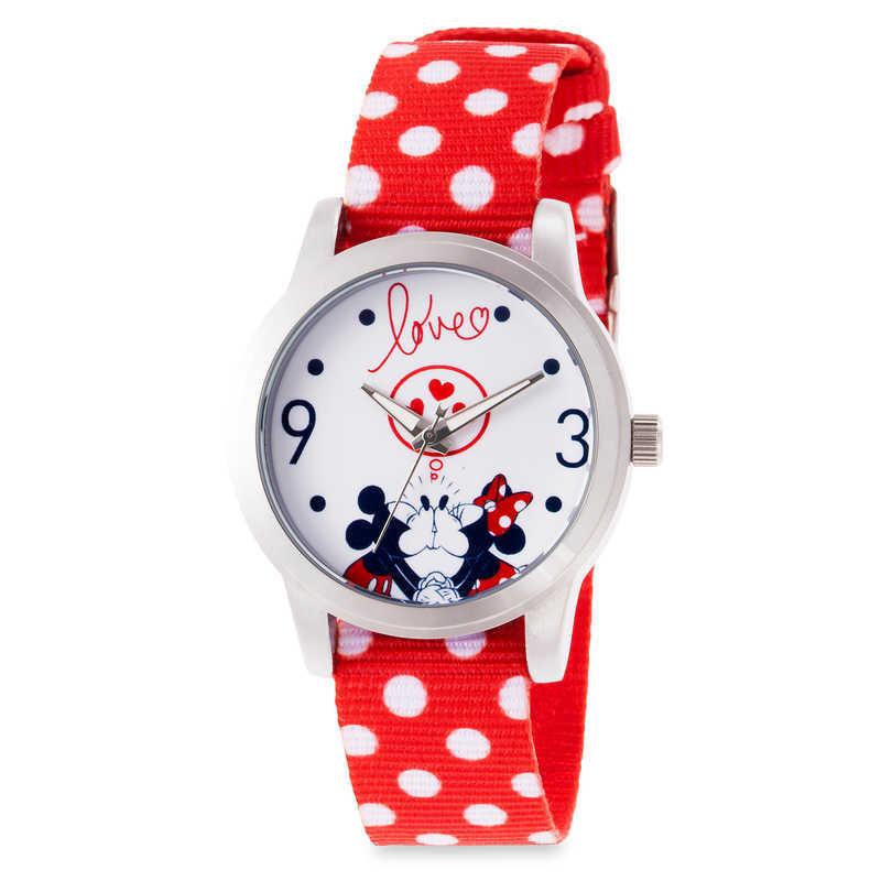 【取寄せ】 ディズニー Disney US公式商品 ミッキーマウス ミッキー ミニーマウス ミニー ドット 腕時計 時計 水玉模様 服 レディース 大人 女性 [並行輸入品] Mickey and Minnie Mouse Polka Dot Watch for Women グッズ ストア プレゼント ギフト 誕生日 人気 クリスマス