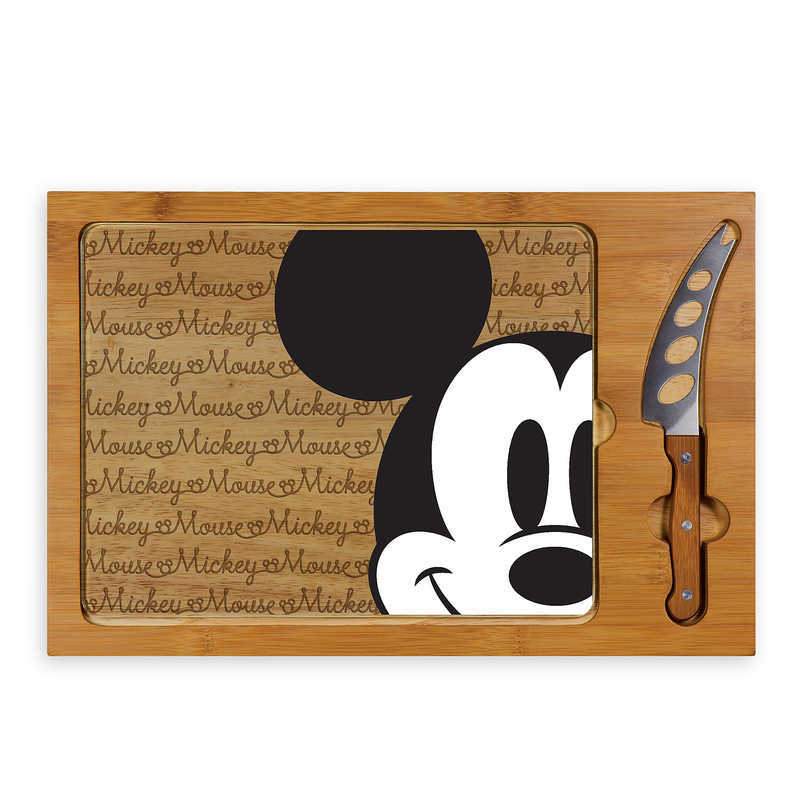 【取寄せ】 ディズニー Disney US公式商品 ミッキーマウス ミッキー トレイ 器 お盆 トップス 上着 服 グラス ガラス セット ナイフ [並行輸入品] Mickey Mouse Glass Top Serving Tray and Knife Set グッズ ストア プレゼント ギフト 誕生日 人気 クリスマス 誕生日 プレゼ