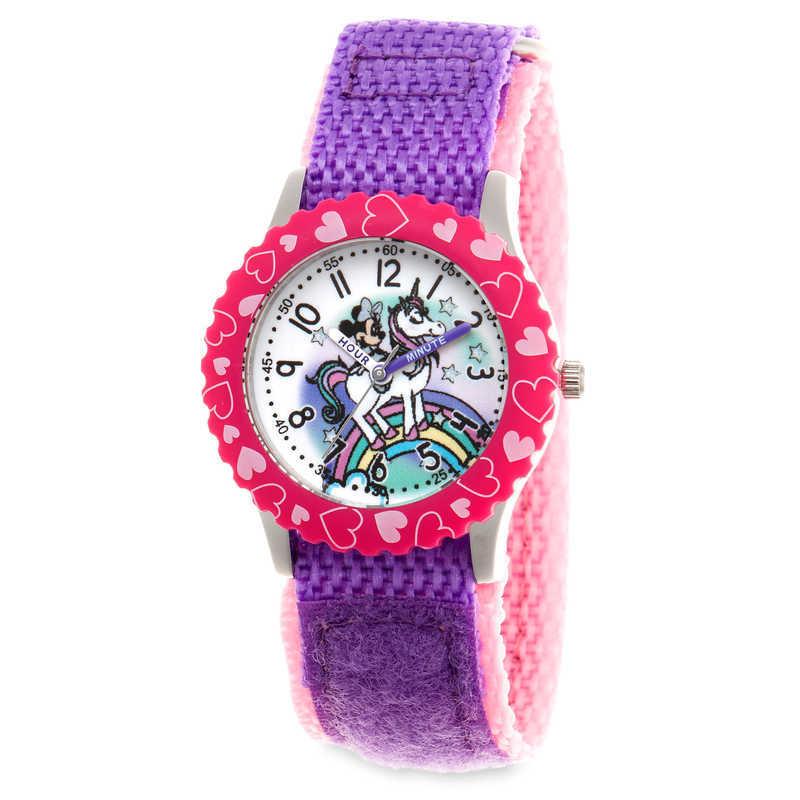 【取寄せ】 ディズニー Disney US公式商品 ミニーマウス ミニー 腕時計 時計 子供 キッズ 女の子 男の子 [並行輸入品] Minnie Mouse Unicorn Time Teacher Watch for Kids グッズ ストア プレゼント ギフト 誕生日 人気 クリスマス 誕生日 プレゼント ギフト