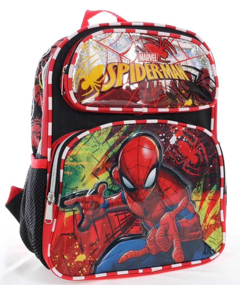 1-2日以内に発送 M ディズニーDisney スパイーダーマン スパイダー 本物◆ マーベル リュック リュックサック 旅行 バッグ バックパック 鞄 かばん 男の子 12
