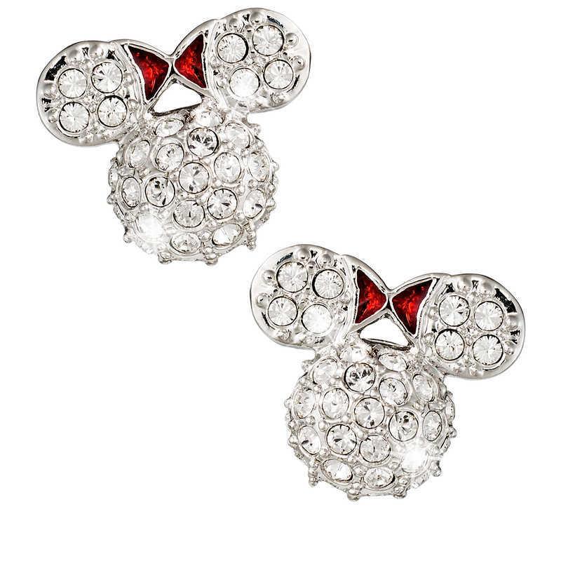 【取寄せ】 ディズニー Disney US公式商品 ミニーマウス ミニー アリバスブラザーズ ピアス ジュエリー アクセサリー [並行輸入品] Minnie Mouse Icon Earrings by Arribas - Domed グッズ ストア プレゼント ギフト クリスマス 誕生日 人気