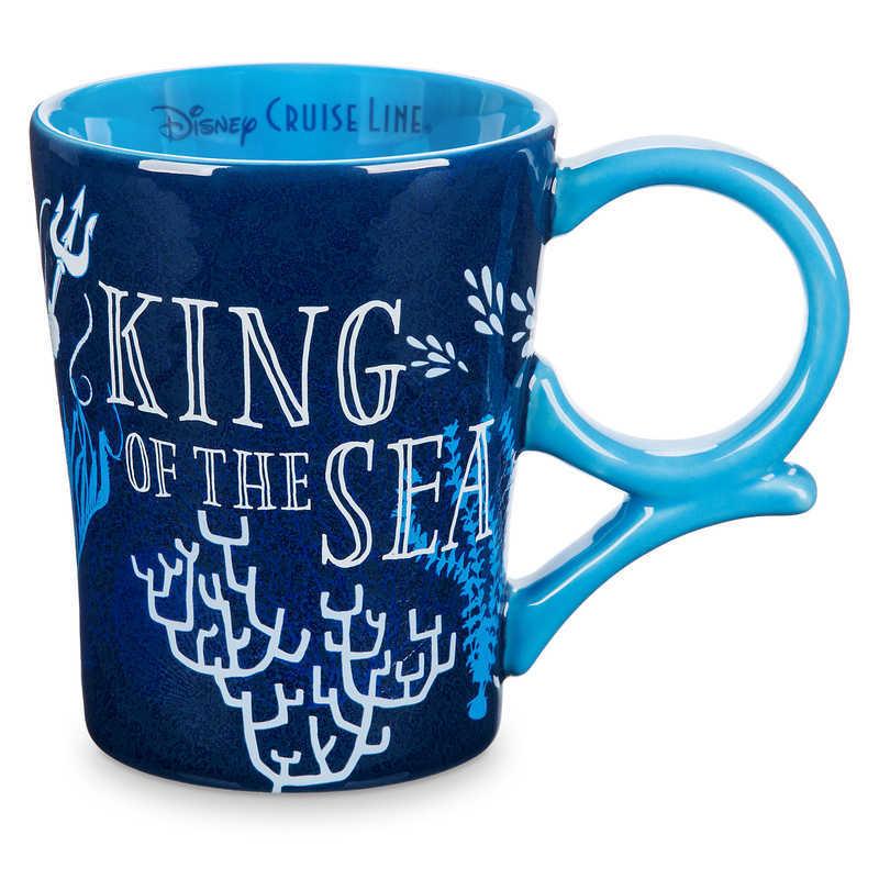 【取寄せ】 ディズニー Disney US公式商品 リトルマーメイド アリエル Ariel プリンセス クルーズライン ディズニークルーズライン トリトン王 キングトリトン トリトン マグカップ マグ コップ カップ [並行輸入品] King Triton Mug - The Little Mermaid Cruise Line グッ