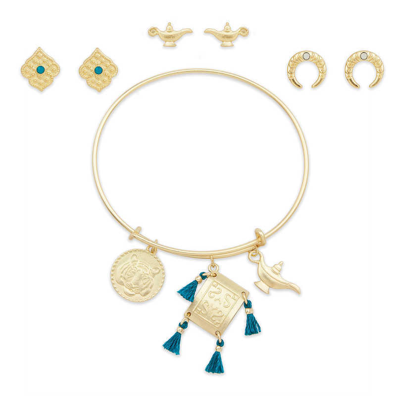 Earrings /& Necklace New Disney Store JASMINE Costume Jewelry Set