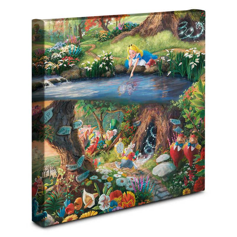 【取寄せ】 ディズニー Disney US公式商品 アリス ふしぎの国のアリス トーマスキンケード Thomas Kinkade キャンバス [並行輸入品] 'Alice in Wonderland'' Gallery Wrapped Canvas by Studios グッズ ストア プレゼント ギフト クリスマス 誕生日 人気