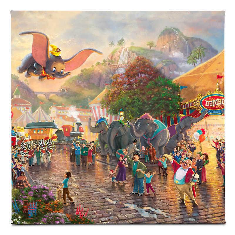 【取寄せ】 ディズニー Disney US公式商品 ダンボ Dumbo トーマスキンケード Thomas Kinkade キャンバス [並行輸入品] 'Dumbo'' Gallery Wrapped Canvas by Studios グッズ ストア プレゼント ギフト クリスマス 誕生日 人気