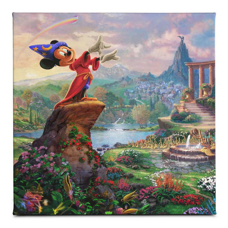 【取寄せ】 ディズニー Disney US公式商品 ファンタジア トーマスキンケード Thomas Kinkade キャンバス [並行輸入品] 'Fantasia'' Gallery Wrapped Canvas by Studios グッズ ストア プレゼント ギフト クリスマス 誕生日 人気
