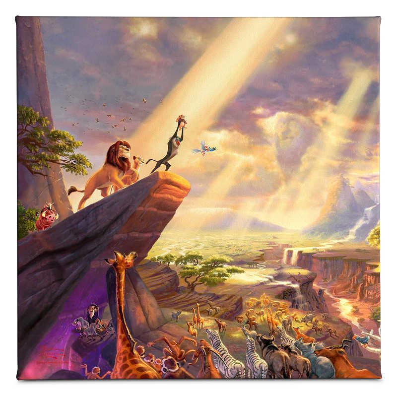 【取寄せ】 ディズニー Disney US公式商品 ライオンキング トーマスキンケード Thomas Kinkade キャンバス [並行輸入品] 'The Lion King'' Gallery Wrapped Canvas by グッズ ストア プレゼント ギフト クリスマス 誕生日 人気