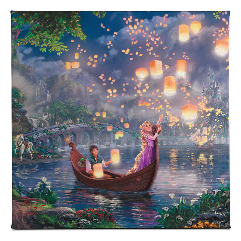 【取寄せ】 ディズニー Disney US公式商品 塔の上 ラプンツェル プリンセス トーマスキンケード Thomas Kinkade キャンバス [並行輸入品] 'Tangled'' Gallery Wrapped Canvas by Studios グッズ ストア プレゼント ギフト クリスマス 誕生日 人気