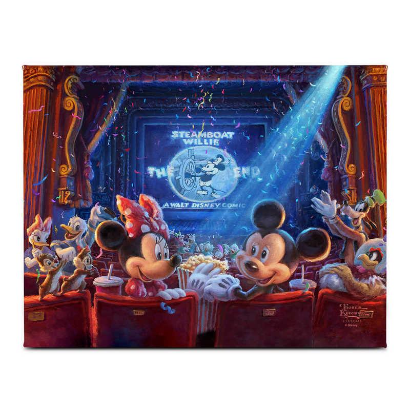 【取寄せ】 ディズニー Disney US公式商品 ミッキーマウス ミッキー トーマスキンケード Thomas Kinkade キャンバス [並行輸入品] '90 Years of Mickey'' Gallery Wrapped Canvas by Studios グッズ ストア プレゼント ギフト クリスマス 誕生日 人気