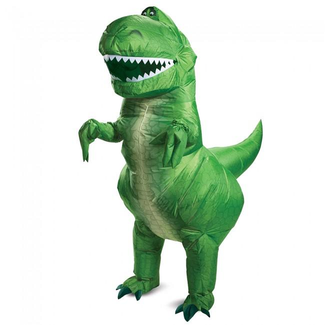 【取寄せ】 ディズニー Disney トイストーリー レックス 恐竜 空気注入式 ふくらませるタイプ コスチューム 衣装 コスプレ ハロウィーン ハロウィン 大人用 [並行輸入品] Toy Story Rex Inflatable Adult グッズ ストア プレゼント ギフト クリスマス 誕生日 人気