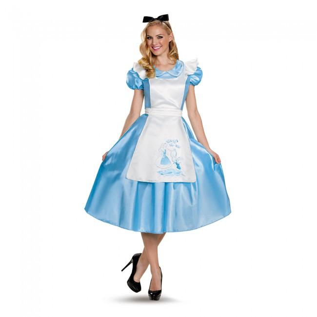 【1-2日以内に発送】 ディズニー Disney アリス ふしぎの国のアリス コスチューム ドレス 衣装 服 仮装 コスプレ ハロウィーン ハロウィン 大人用 レディース 女性 [並行輸入品] Alice in Wonderland Classic Deluxe Adult グッズ ストア プレゼント ギフト クリスマス