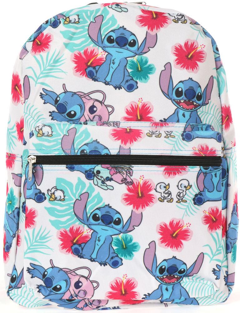 "16/"" Disney Lilo /& Stitch Large Purple All Over Print Backpack Stitch /& Angel"