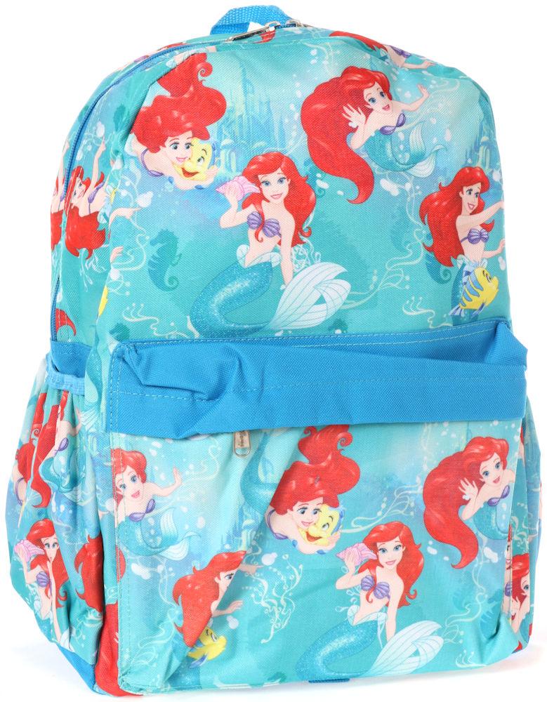 【1-2日以内に発送】【L】 ディズニー Disney アリエル リトルマーメイド フランダー プリンセス リュックサック リュック 旅行 バッグ バックパック 鞄 かばん 女の子 女子 女児 子供 子供用 ガールズ キッズ [並行輸入品] Backpack Ariel 16'' クリスマス 誕生日 プレ