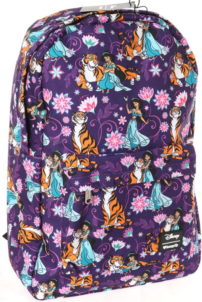 【1-2日以内に発送】 ディズニー Disney ジャスミン アラジン プリンセス リュック リュックサック バックパック バッグ 鞄 かばん レディース 女性 女子 ラウンジフライ Loungefly [並行輸入品] LF JASMINE RAJA AOP NYLON BACKPACK クリスマス 誕生日 プレゼント ギフ