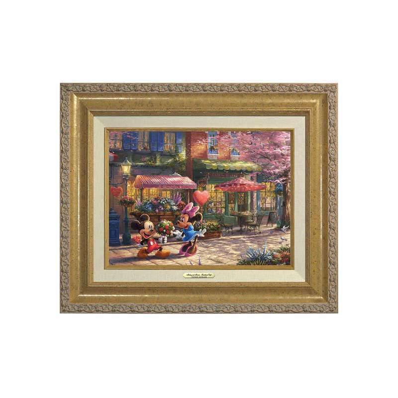 【取寄せ】 ディズニー Disney US公式商品 ミッキーマウス ミッキー ミニーマウス ミニー トーマスキンケード Thomas Kinkade キャンバス [並行輸入品] 'Mickey and Minnie Sweetheart Caf?'' Canvas Classic by Studios グッズ ストア プレゼント ギフト クリスマス 誕生日