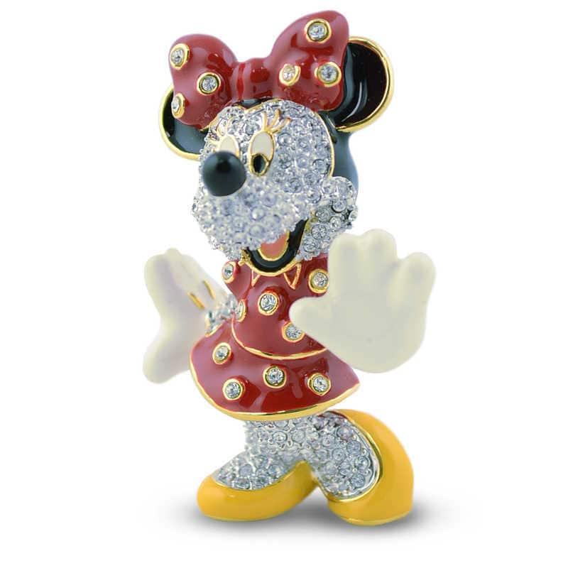 【取寄せ】 ディズニー Disney US公式商品 ミニーマウス ミニー アリバスブラザーズ フィギュア 置物 人形 ジュエリー [並行輸入品] Minnie Mouse Jeweled Figurine by Arribas グッズ ストア プレゼント ギフト クリスマス 誕生日 人気