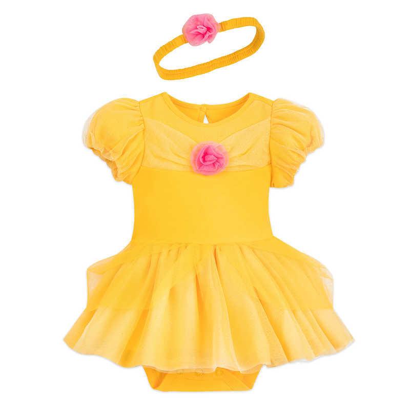 【あす楽】 ディズニー Disney US公式商品 美女と野獣 ベル プリンセス コスチューム 衣装 ドレス 服 コスプレ ハロウィン ハロウィーン ロンパース ボディスーツ ボディースーツ ベビー 赤ちゃん 幼児 女の子 男の子 [並行輸入品] Belle Costume Bodysuit for Baby グ