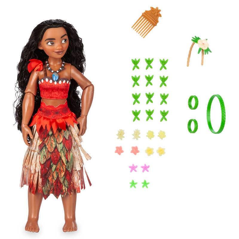【取寄せ】 ディズニー Disney US公式商品 モアナと伝説の海 モアナ ワイアリキ 人形 ドール フィギュア おもちゃ [並行輸入品] Moana Hair Play Doll グッズ ストア プレゼント ギフト クリスマス 誕生日 人気
