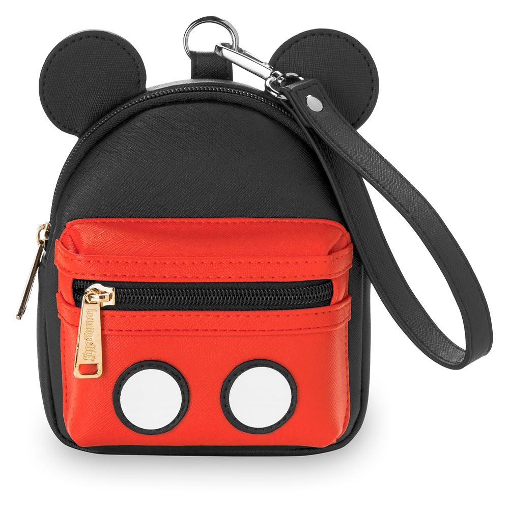【取寄せ】 ディズニー Disney US公式商品 ミッキーマウス ミッキー リスレット ハンドバッグ 鞄 バック ラウンジフライ 袋 [並行輸入品] Mickey Mouse Wristlet Pack by Loungefly グッズ ストア プレゼント ギフト クリスマス 誕生日 人気