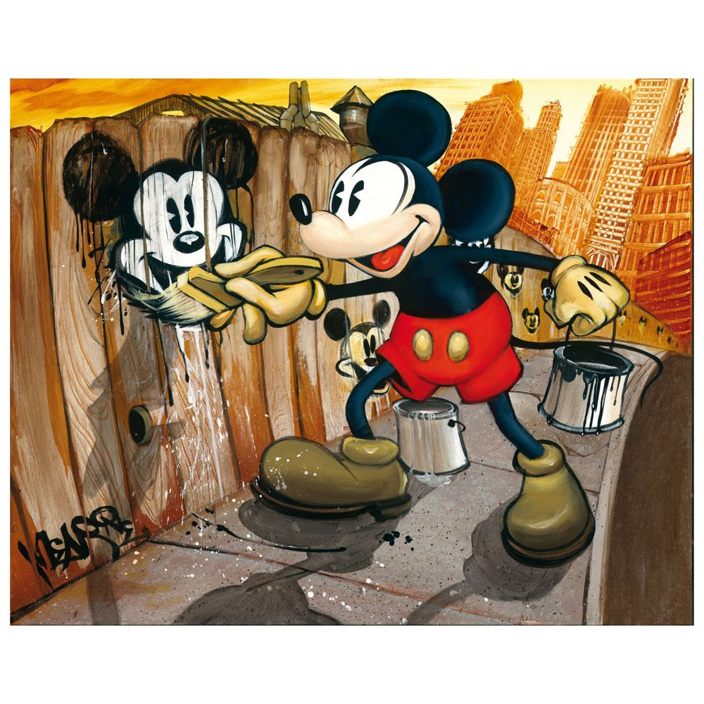 【取寄せ】 ディズニー Disney US公式商品 ミッキーマウス ミッキー ジクレ 絵 プリント アート 絵画 キャンバス [並行輸入品] Mickey Mouse ''Mickey da Vinci'' Giclée on Canvas ? BLOC28 グッズ ストア プレゼント ギフト クリスマス 誕生日 人気