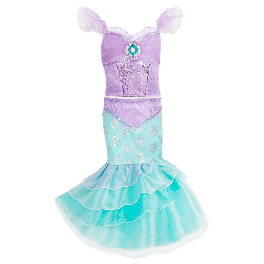 Girls Childs Underwater Blue Mermaid Princess Ariel Kids Halloween Costume