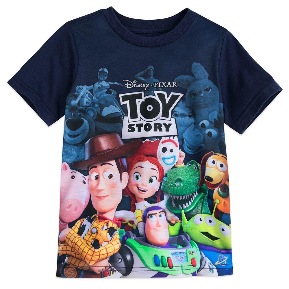 【あす楽】 ディズニー Disney US公式商品 トイストーリー Tシャツ トップス 服 シャツ 男の子用 子供 男の子 ボーイズ [並行輸入品] Toy Story Cast and Logo T-Shirt for Boys グッズ ストア プレゼント ギフト クリスマス 誕生日 人気:ビーマジカル店