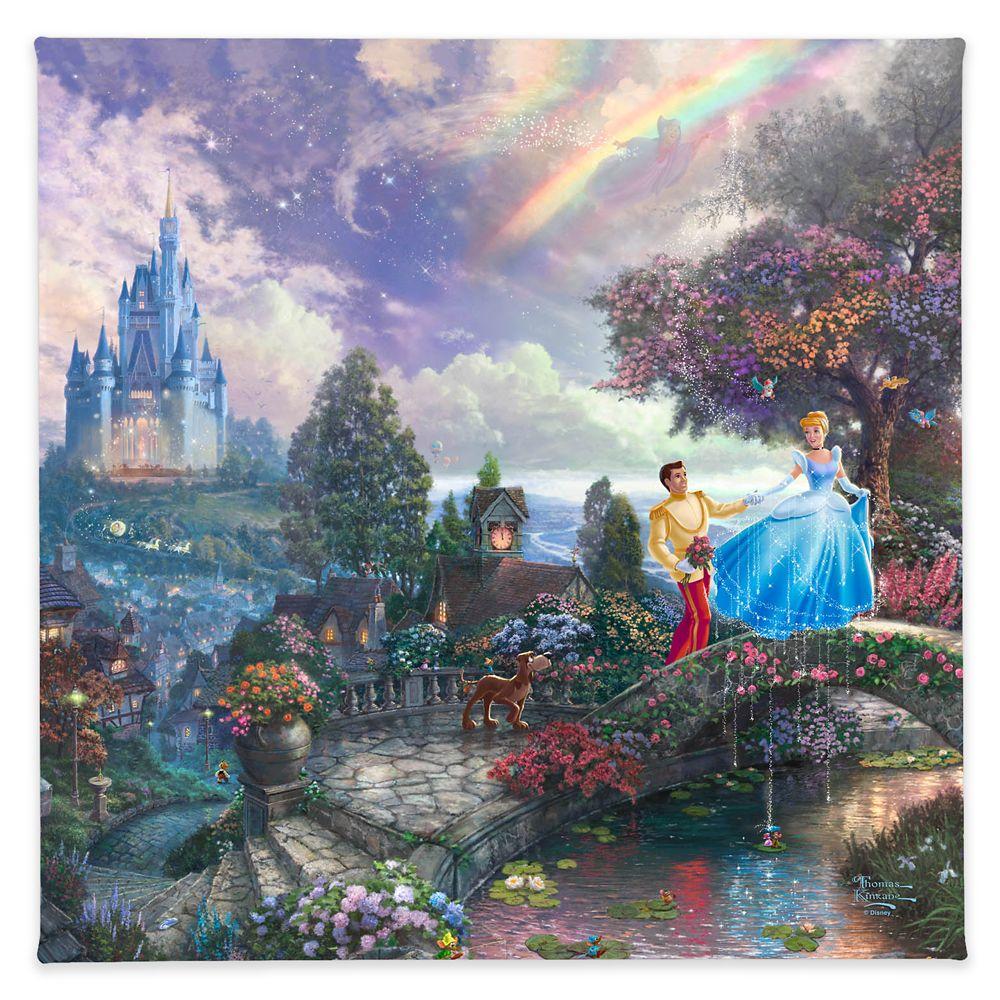 【取寄せ】 ディズニー Disney US公式商品 シンデレラ プリンセス トーマスキンケード ドリーム Thomas Kinkade キャンバス [並行輸入品] 'Cinderella Wishes Upon a Dream'' Gallery Wrapped Canvas by Studios グッズ ストア プレゼント ギフト クリスマス 誕生日 人気