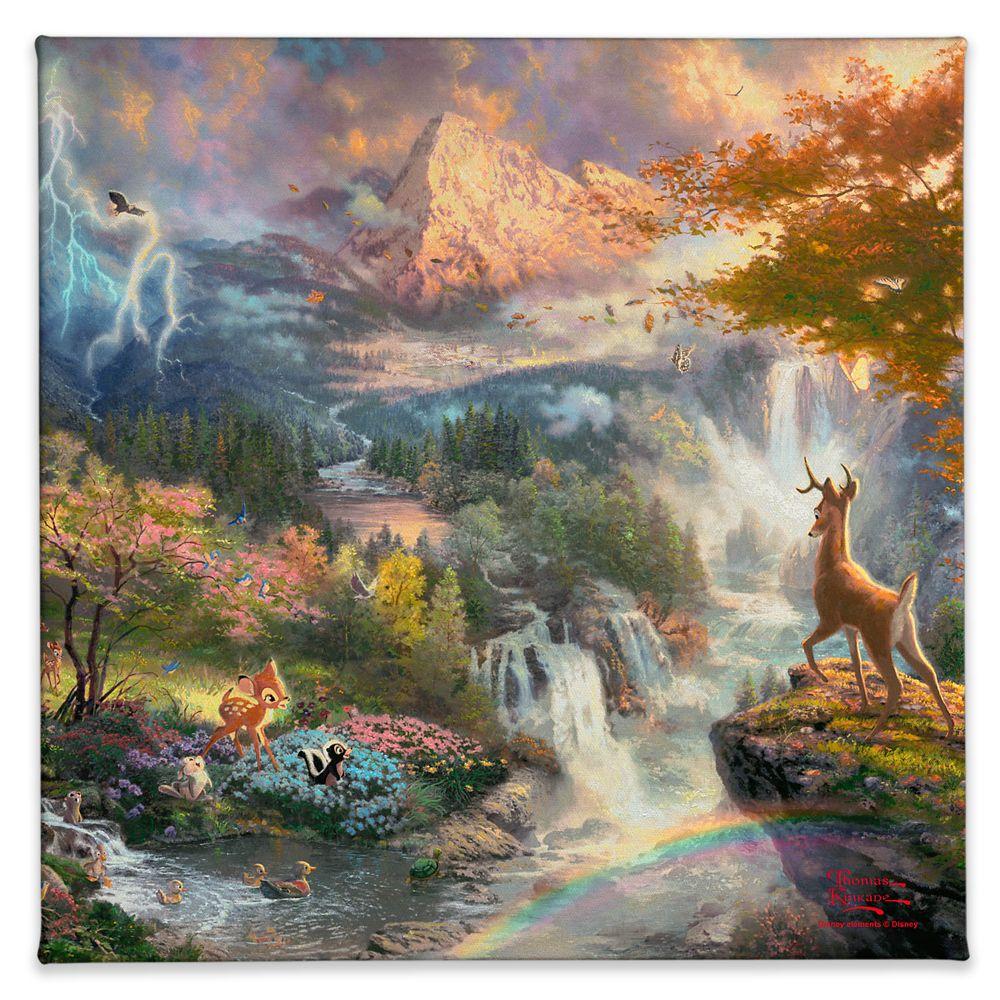 【取寄せ】 ディズニー Disney US公式商品 バンビ Bambi トーマスキンケード Thomas Kinkade キャンバス [並行輸入品] 'Bambi's First Year'' Gallery Wrapped Canvas by Studios グッズ ストア プレゼント ギフト クリスマス 誕生日 人気