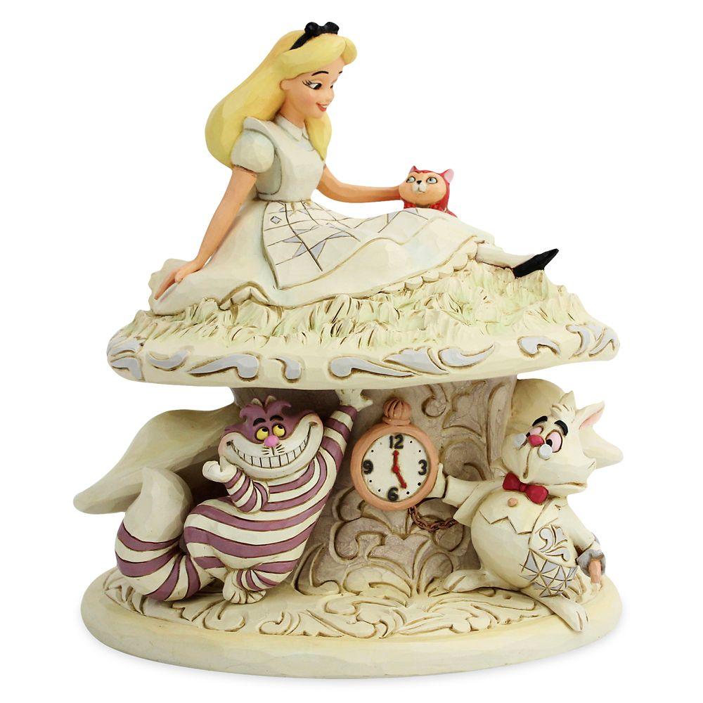 【取寄せ】 ディズニー Disney US公式商品 アリス ふしぎの国のアリス 置物 フィギュア ジムショア 人形 おもちゃ [並行輸入品] Alice in Wonderland ''Whimsy and Wonder'' White Woodland Figure by Jim Shore グッズ ストア プレゼント ギフト クリスマス 誕生日 人気