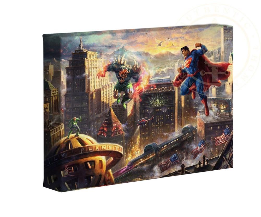 【取寄せ】 DCコミックス スーパーヒーロー スーパーマン 大きさ 40.6cm x 60.9cm 絵画 絵 アート キャンバ