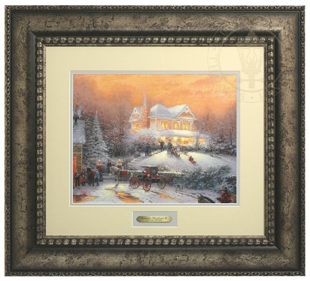 【取寄せ】 風景 景色 自然 絵画 絵 アート プレステージホームコレクション インテリア 装飾 デザイン 壁 額付き フレーム付き (Antiqued Silver Frame) Thomas Kinkade トーマスキンケード 風景画 [並行輸入品] Thomas Kinkade Victorian Christmas II - Prestige Hom