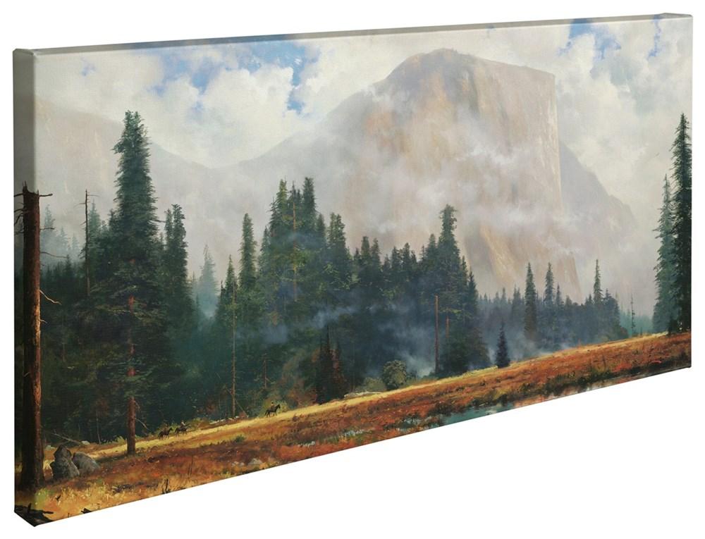 """【取寄せ】 風景 景色 自然 大きさ 40.6cm x 78.7cm 絵画 絵 アート キャンバス インテリア 装飾 デザイン 壁 Thomas Kinkade トーマスキンケード [並行輸入品] Thomas Kinkade Yosemite Meadow - 16"""" x 31"""" Gallery Wrapped Canvas グッズ ストア プレゼント ギフト"""