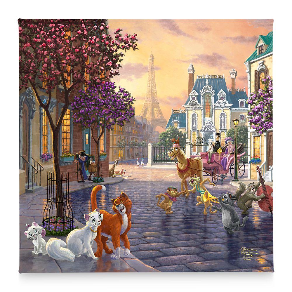 【取寄せ】 ディズニー Disney US公式商品 マリー おしゃれキャット トーマスキンケード Thomas Kinkade キャンバス キャンバスアート 絵画 絵 アート インテリア 壁 装飾 デザイン [並行輸入品] 'The Aristocats'' Gallery Wrapped Canvas by Studios グッズ ストア プレゼ