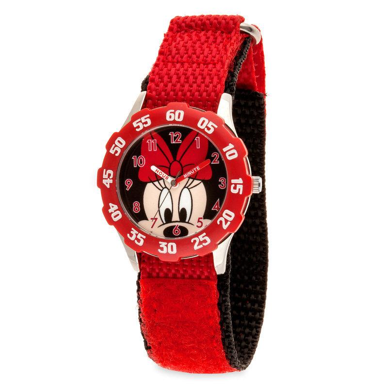 【取寄せ】 ディズニー Disney US公式商品 ミニーマウス 腕時計 ステンレス製 子供 キッズ 女の子 男の子 [並行輸入品] Minnie Mouse Stainless Steel Time Teacher Watch - Kids グッズ ストア プレゼント ギフト 誕生日 人気 クリスマス 誕生日 プレゼント ギフト