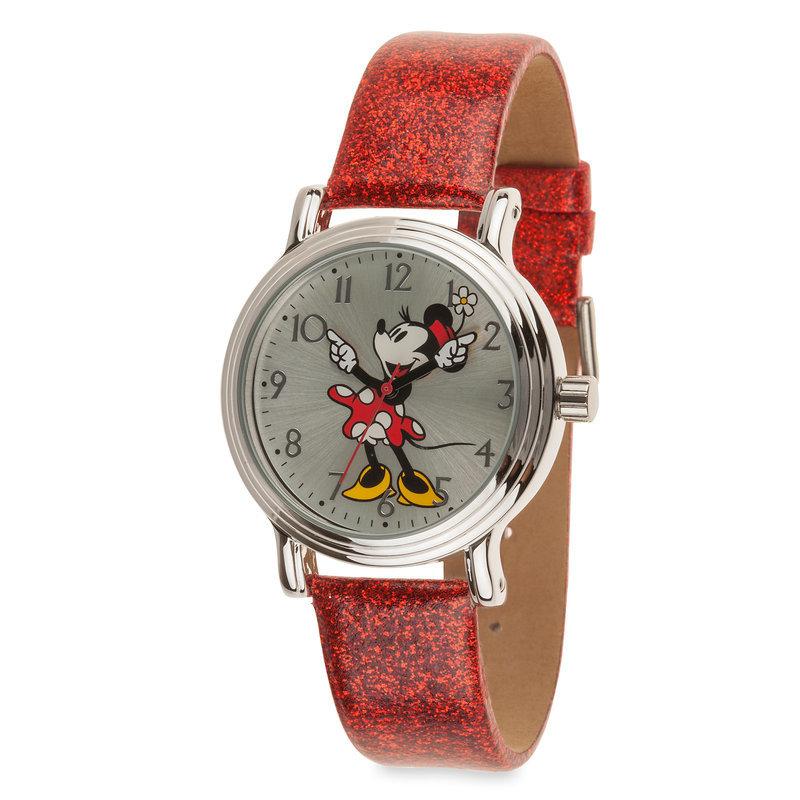 【取寄せ】 ディズニー Disney US公式商品 ミニーマウス 腕時計 大人用 大人 [並行輸入品] Classic Minnie Mouse Watch - Adults グッズ ストア プレゼント ギフト 誕生日 人気 クリスマス 誕生日 プレゼント ギフト