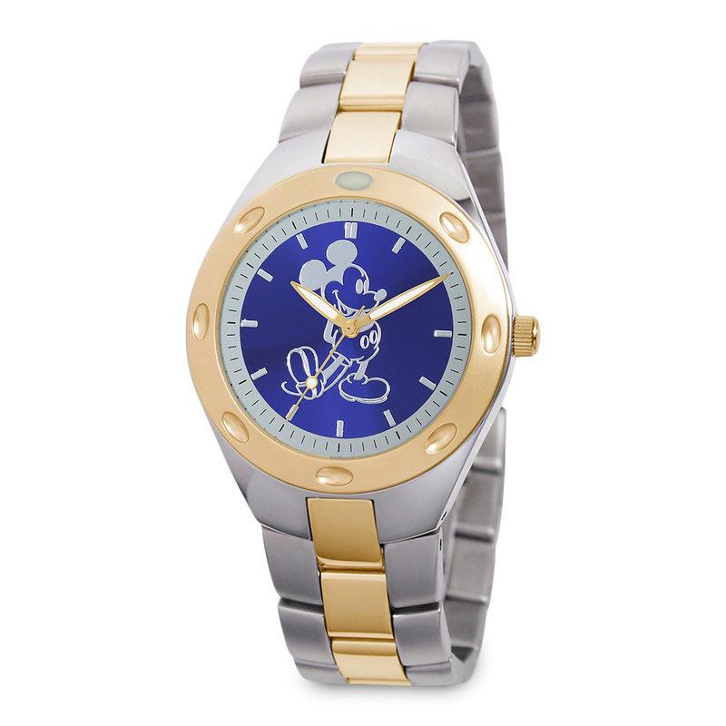 【取寄せ】 ディズニー Disney US公式商品 ミッキーマウス 腕時計 大人用 大人 [並行輸入品] Mickey Mouse Two-Tone Watch - Adults グッズ ストア プレゼント ギフト 誕生日 人気 クリスマス 誕生日 プレゼント ギフト