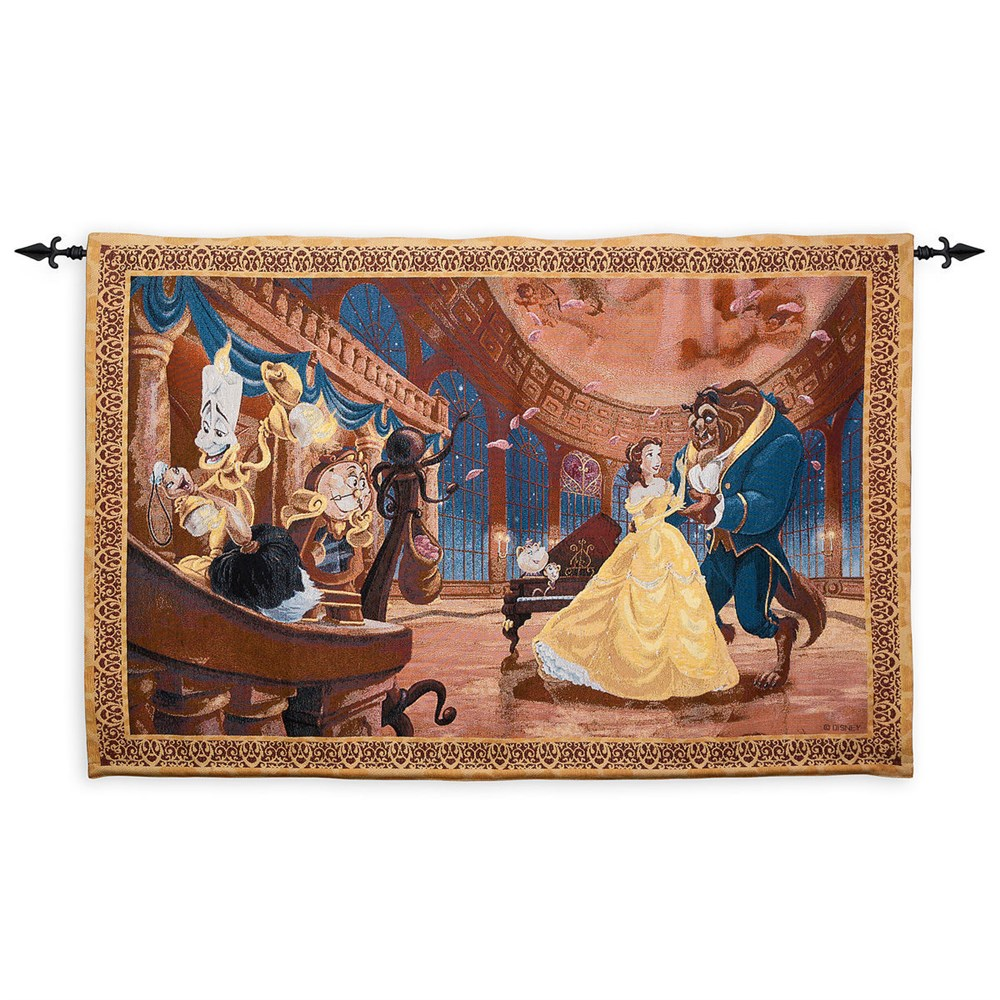 【取寄せ】ディズニー Disney US公式商品 美女と野獣 ベル プリンセス 壁がけ 装飾 ウォールハンギング タペストリー [並行輸入品] Beauty and the Beast Tapestry Wall Hanging