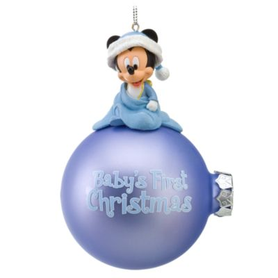 disney disney us official merchandise mickey mouse ornament christmas tree ornaments christmas decorations parallel import goods babys first christmas