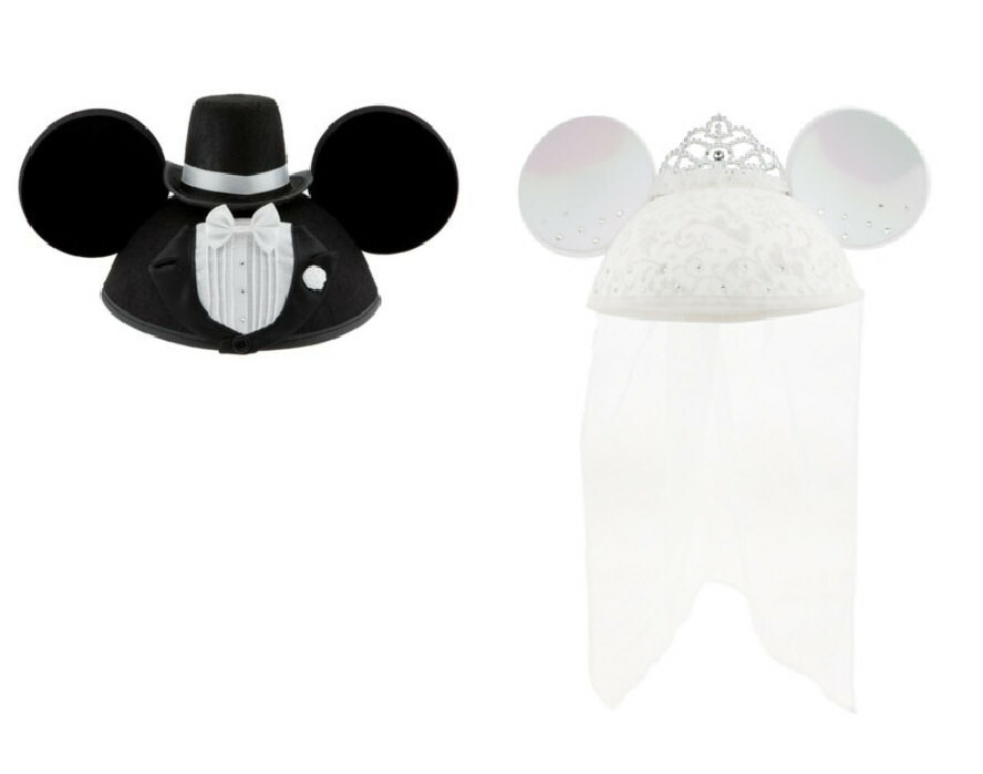 Bemagical Rakuten Store  Disney (Disney) Mickey Mouse Minnie mouse year hit  groom bride and two set wedding bridal ear Cap Hat Hat Disney Bride Minnie  Mouse ... 68fb59e14d3